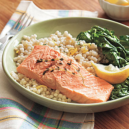 Poached Salmon RecipeHere's a unique take on salmon that is a perfect light summer dish. Serve with steamed veggies or try it on top of your favorite salad.