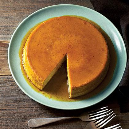Caramelized Orange Pumpkin FlanRecipe