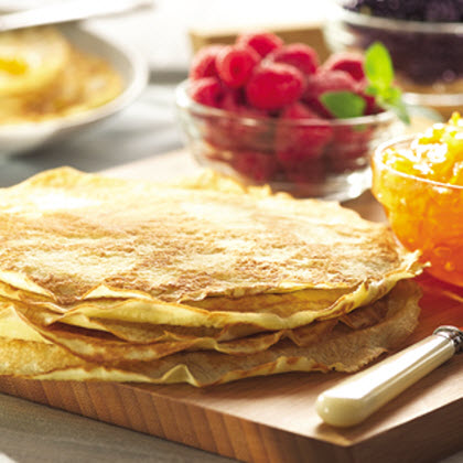 Easy Dessert Crepes RecipeA delicately browned crepe filled with Hungry Jack® Buttermilk Complete Pancake & Waffle Mix.
