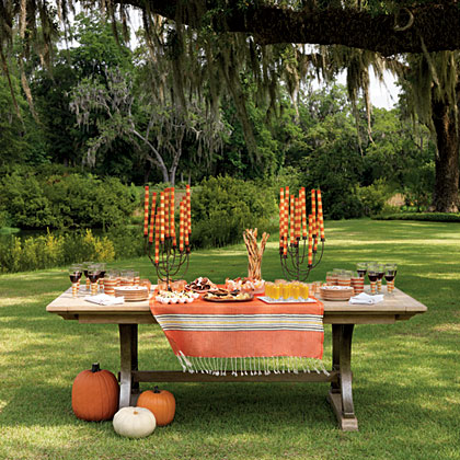 Halloween Outdoor Party Table