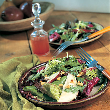Field Salad with Pears and Blue CheeseRecipe