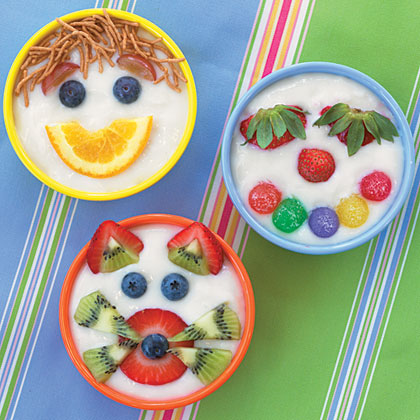 Silly Yogurt Faces Recipe