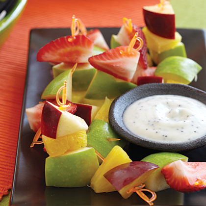 Fruit Swords with Ant Dip