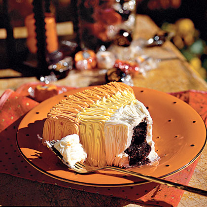 Candy Corn Chocolate CakesRecipe