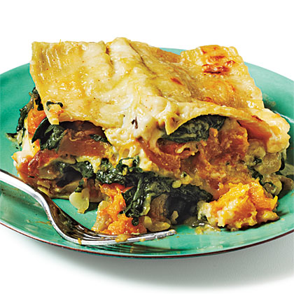 Butternut Squash, Caramelized Onion, and Spinach Lasagna Recipe ...