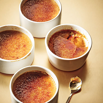 Maple-Gingerbread Pots de Crème RecipeEnjoy a bowl of this decadent and light dessert during the holidays. The crackly counterpoint to the silky custard occurs when you sprinkle a thin layer of sugar on top and broil to melt. The caramel hardens as it cools to a glasslike sheet.