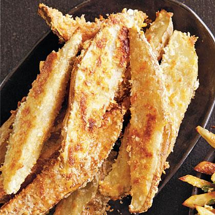 Parmesan-Coated Potato Wedges Recipe