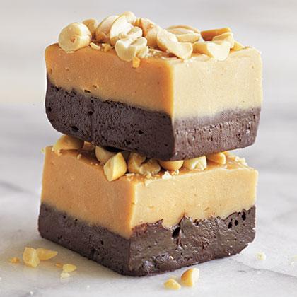Peanut Butter and Dark Chocolate Fudge