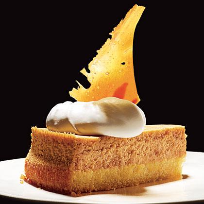 Pumpkin-Almond Cheesecake