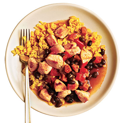 Rice and Beans with Chicken and Chorizo