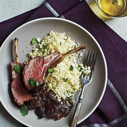 Spiced Lamb with Plum Sauce Recipe