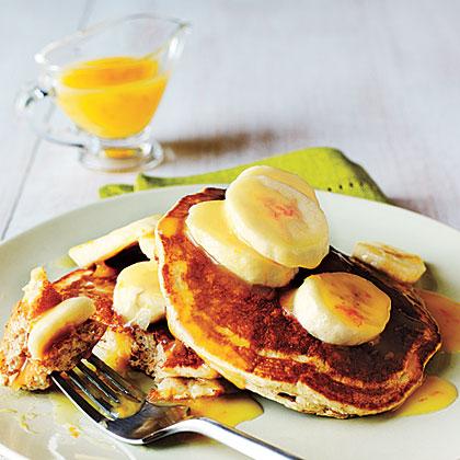 Whole-Wheat Buttermilk Pancakes with Orange Sauce
