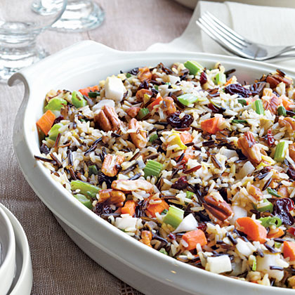 Wild Rice Stuffing with Dried Cherries and Toasted Pecans