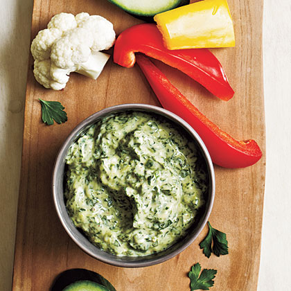 Zesty Green Goddess Dip RecipeGood news! Because fresh herbs are increasingly available, you can make this tangy, peppery dip year-round.