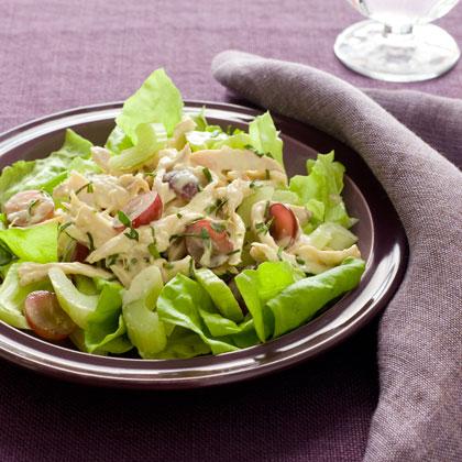 Turkey Salad with Grapes, Tarragon, and Celery Recipe | MyRecipes
