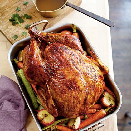 Apple-Bourbon Turkey and Gravy