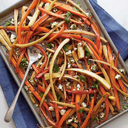 Balsamic-Roasted Carrots and Parsnips