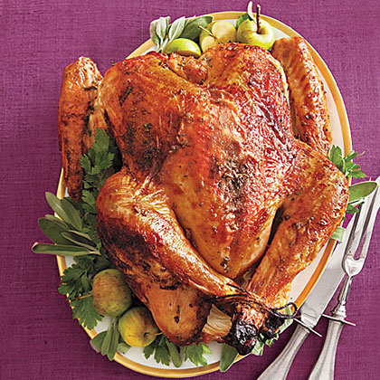 Maple-Glazed Turkey with Onion-Cider GravyRecipe