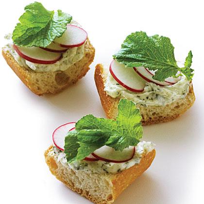 Nori Radish Toasts