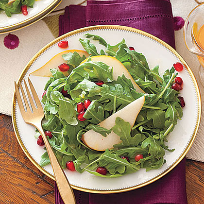 Pomegranate, Pear and Arugula Salad