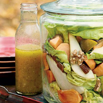 Persimmon-Pear Salad