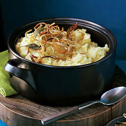 Mashed Potatoes and Parsnips with Crisp Root Vegetable Strips Recipe ...