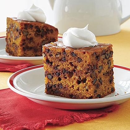 Pumpkin-Chocolate Chip Cake Recipe   MyRecipes.com