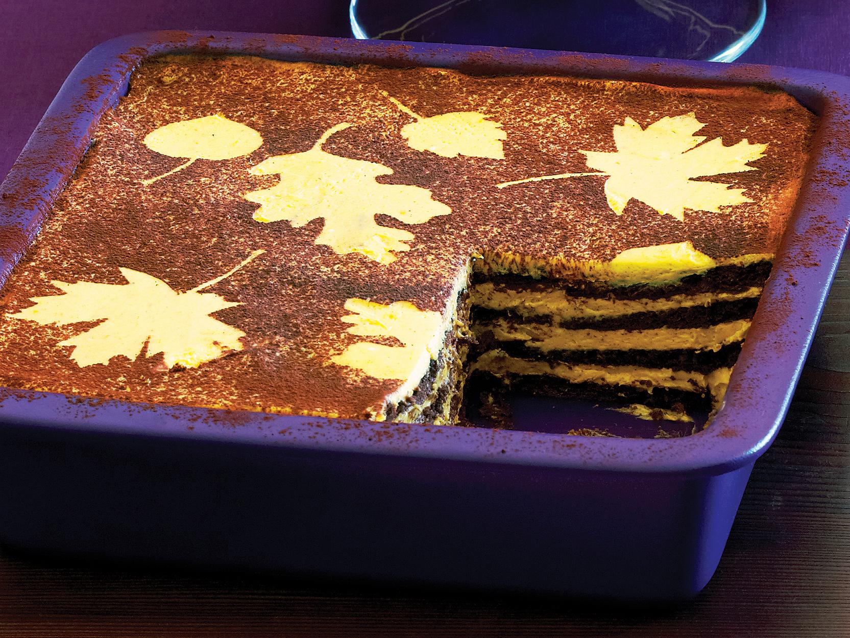 su-No-Cook Pumpkin Chocolate Icebox Cake