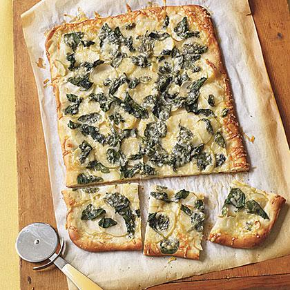 Spinach and Potato Pizza Recipe