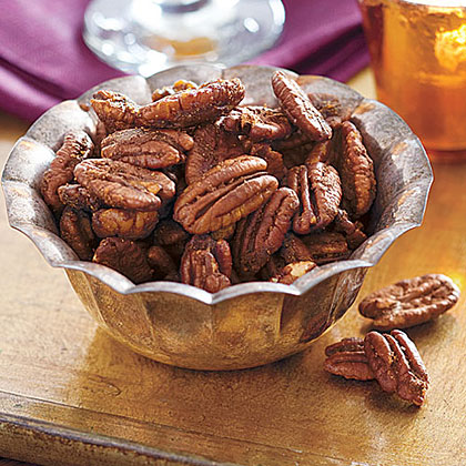 Sweet and Spicy Roasted Pecans