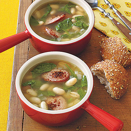 White Bean, Sausage and Spinach SoupRecipe
