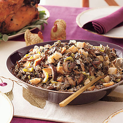 Slow-Cooker Wild Rice and Mushroom StuffingRecipe