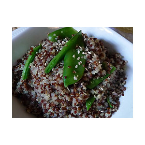 Quinoa with Snow Peas, Sesame and Ginger