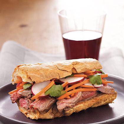 Banh Mi-Style Roast Beef Sandwiches