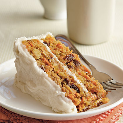 Carrot Cake RecipeJust because you're gluten free doesn't mean you can't indulge from time to time! This yummy carrot cake starts with GF boxed yellow cake mix and is chock-full of carrots, nuts, and raisins.