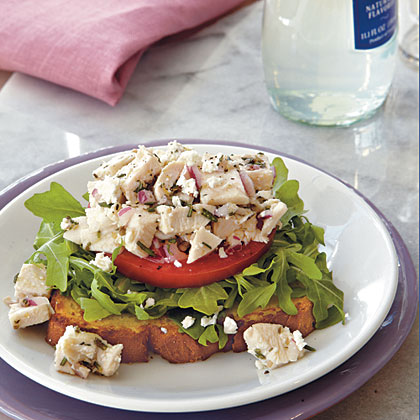 Chicken-Arugula Salad Open-Faced SandwichesRecipe