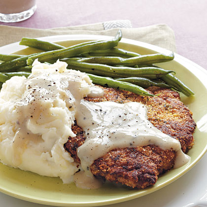 Chicken-Fried Steak with Soy Milk Gravy