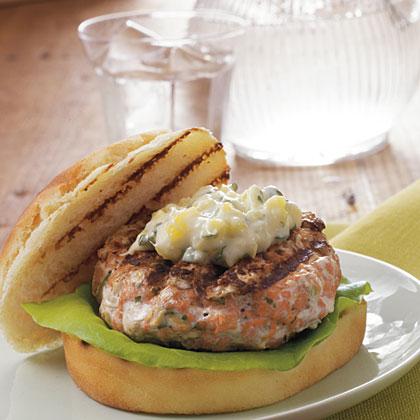 Chipotle Salmon Burgers