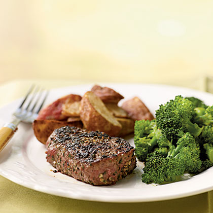 Filet Mignon with Fresh Herb and Garlic Rub Recipe