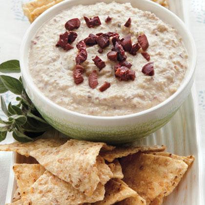 Kalamata-Garbanzo Hummus Recipe