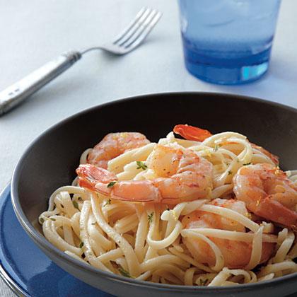 Linguine with Peppery Shrimp