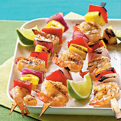 Mango Shrimp Kebabs                            RecipeGrilling out is always fun, especially when you have something as tasty as these kebabs sizzling to perfection. Douse the skewers with your favorite gluten-free fruits and veggies to personalize your shrimp palate.