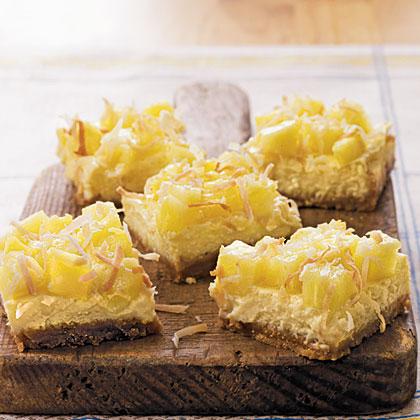 Pina Colada Cheesecake BarsRecipe