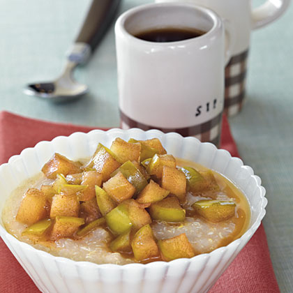 Hot Quinoa Cereal with Maple Syrup ApplesRecipe