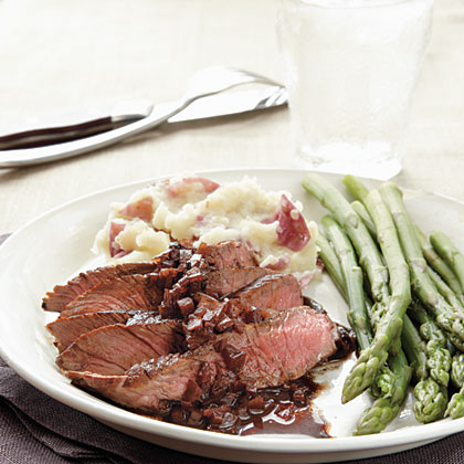 Sirloin Steak with Merlot-Balsamic Reduction