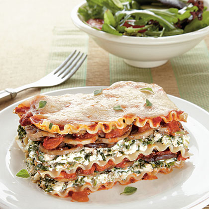 Spinach and Mushroom Lasagna Recipe MyRecipes