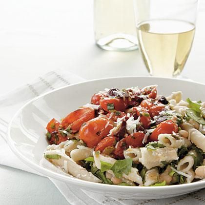 Tomato-Basil Pasta with Asiago Recipe