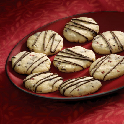 Cherry Chocolate Shortbread Cookies