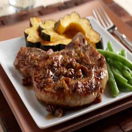 Maple Pecan Pork Chops