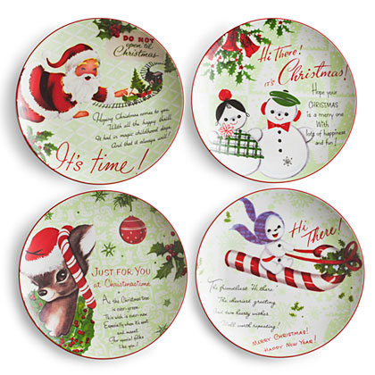 Happy Christmas Plates